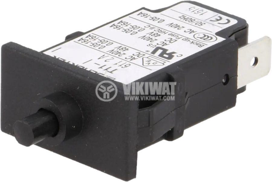 Токова защита T11-611-2A, 240VAC/48VDC,2A, еднополюсна