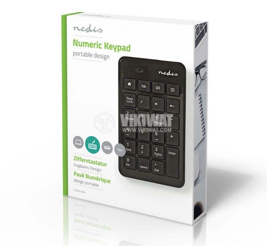 Цифрова клавиатура NEDIS KBNM100BK - 4
