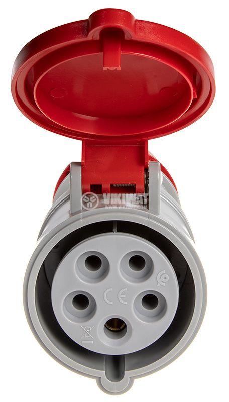 Industrial socket, 16A, 415VAC, 3P+N+E - 2