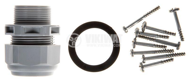 Кутия 570.M0163 за индустриален съединител 100x110mm, термопластмаса, 235x117x115mm, IP69 - 4