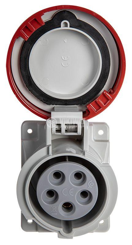 Индустриален съединител, женски, 16A, 415VAC, 3P+N+E, SCAME 418.1667  - 2