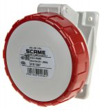 Industrial socket, 16A, 415VAC, 3P+N+E, SCAME 418.1667