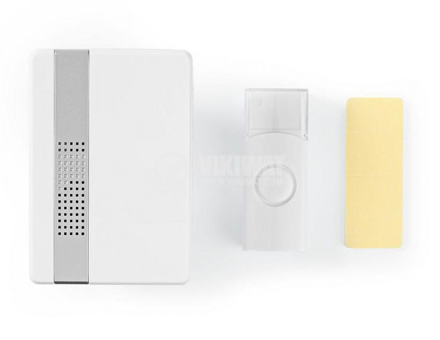 Безжичен звънец NEDIS DOORB223CWT, 230VAC/3VDC, 80dB, бял - 5