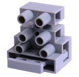 Tерминален блок, тип клеморед с предпазител, KF801, 3+1pin, 10A / 450V, предпазител 10A