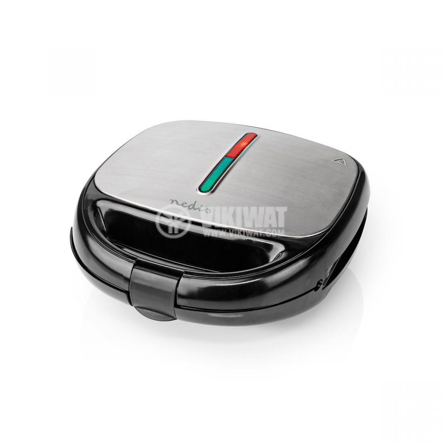 Electric toaster, waffle iron or grill KARP100BK, 215x120mm, 800W  - 8