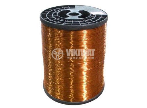 Намотъчен емайлиран проводник, клас F, ф0.35mm, Cu, 0.5kg, 180°C
