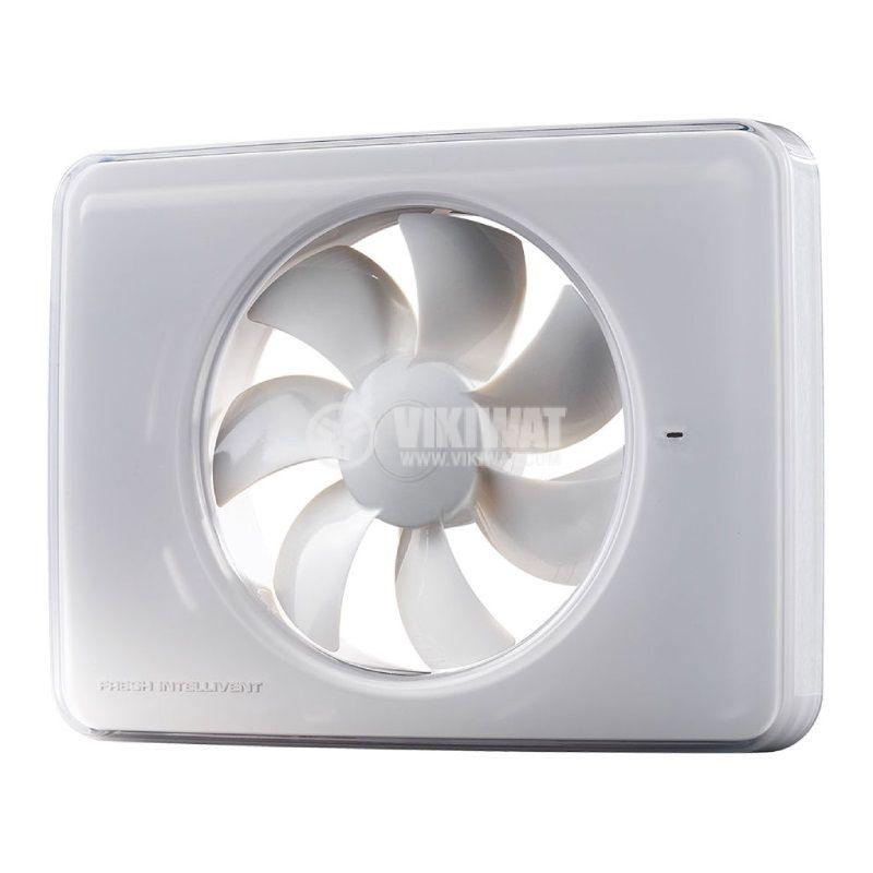 Вентилатор за баня Fresh Intellivent 2, ф98~130mm, 100~240VAC, 5W, 132m3/h, бял, IP44 - 1