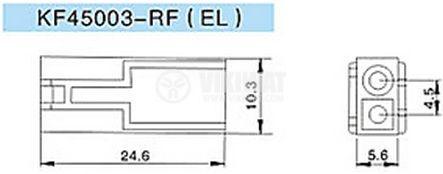 Конектор за обемен монтаж женски, VF45003-4RF, 4 пина - 2