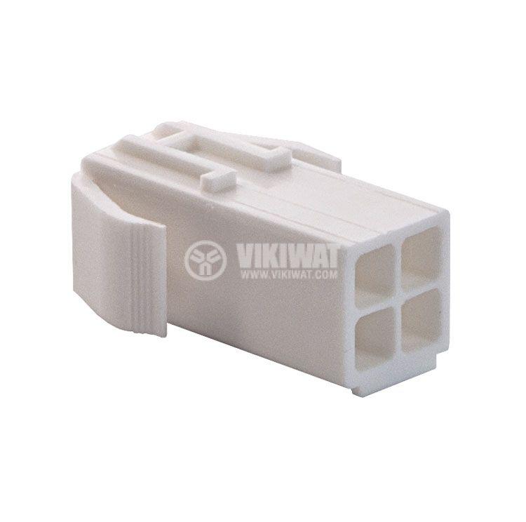 Конектор за обемен монтаж женски, VF45003-4RF, 4 пина - 4