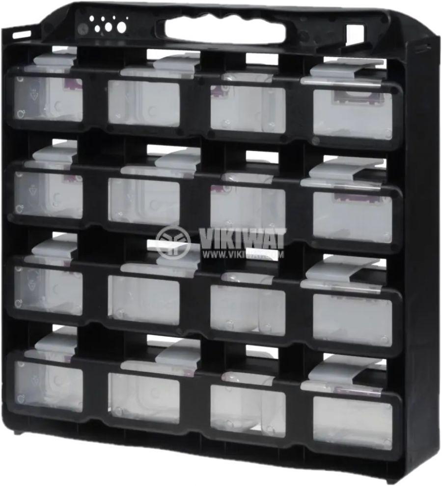 Модул с 12 броя чекмеджета, черен - 2
