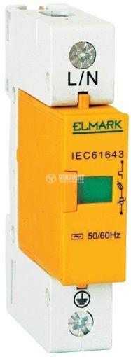 Surge protector SPD-C10 64102, 1P, 275VAC, 10A, 1.2kV, 10kA, 20kA, DIN rail