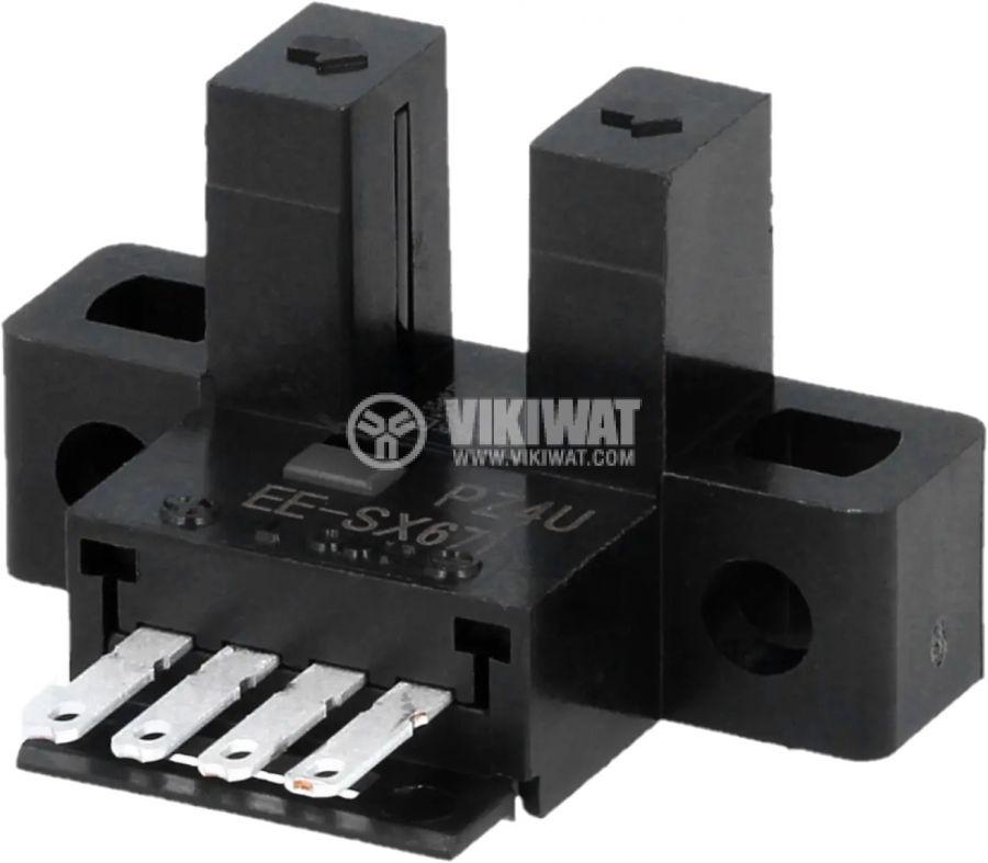 Оптичен датчик 5~24VDC, предавател-приемник(процеп), 26.2x16.2x15.5mm, NPN, 5mm  - 2