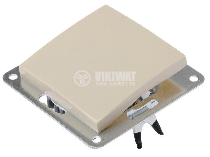 Електрически ключ, LEXA LM, за вграждане, сх.6, девиаторен, 10A, 250VAC, крем