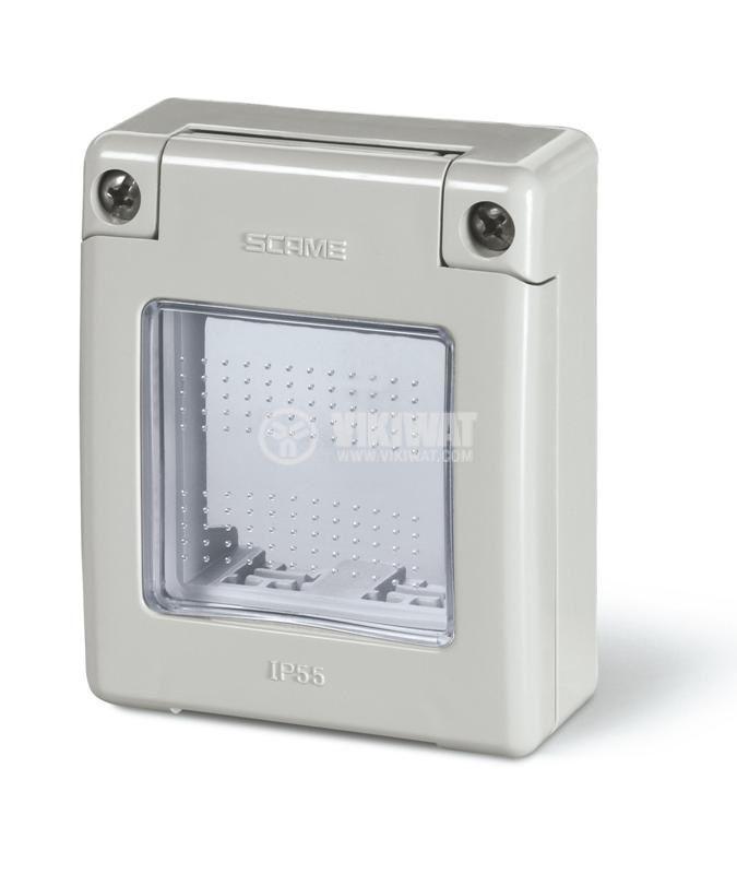 Рамка 70x87mm, термопластмаса, прозрачна, IP55, SCAME 570.5052