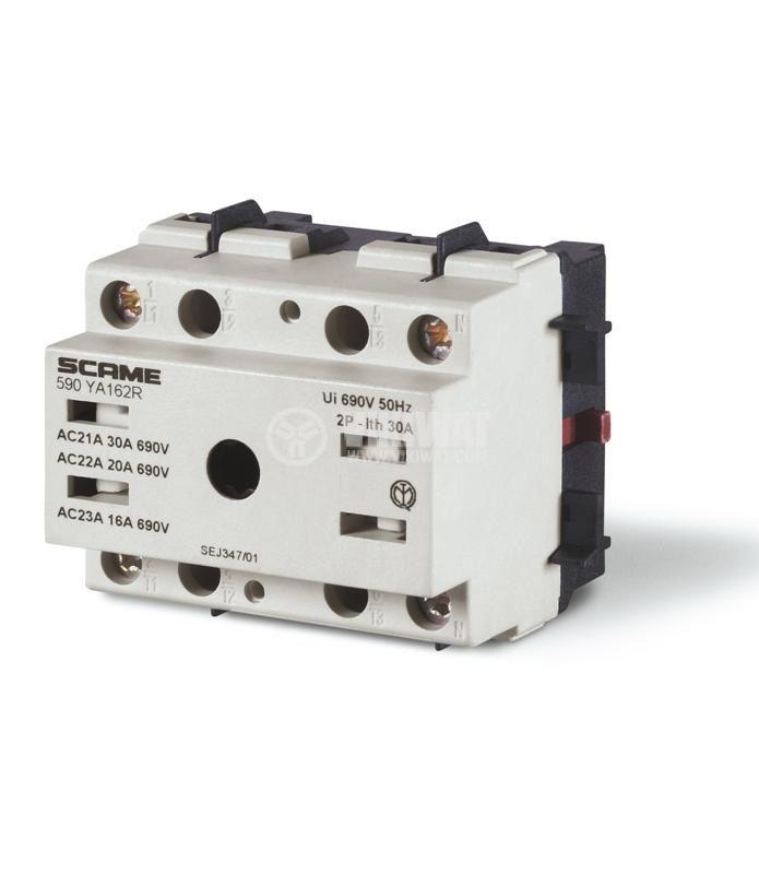 Прекъсвач разединителен, триполюсен, 16A, 690V, панелен, SCAME 590.YA163R
