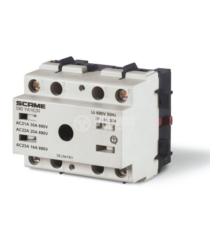 Прекъсвач разединителен, триполюсен, 32A, 690V, панелен, SCAME 590.YA323R