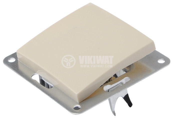 Electric Switch, LEXA 250 VAC, 10 A, cream-colored