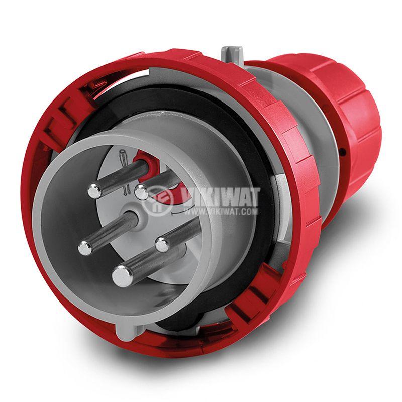 Индустриален съединител CEE, с реверсиране на фазите, IP69, 415VAC, 3P+N+E, 16A, SCAME 218.1637RV