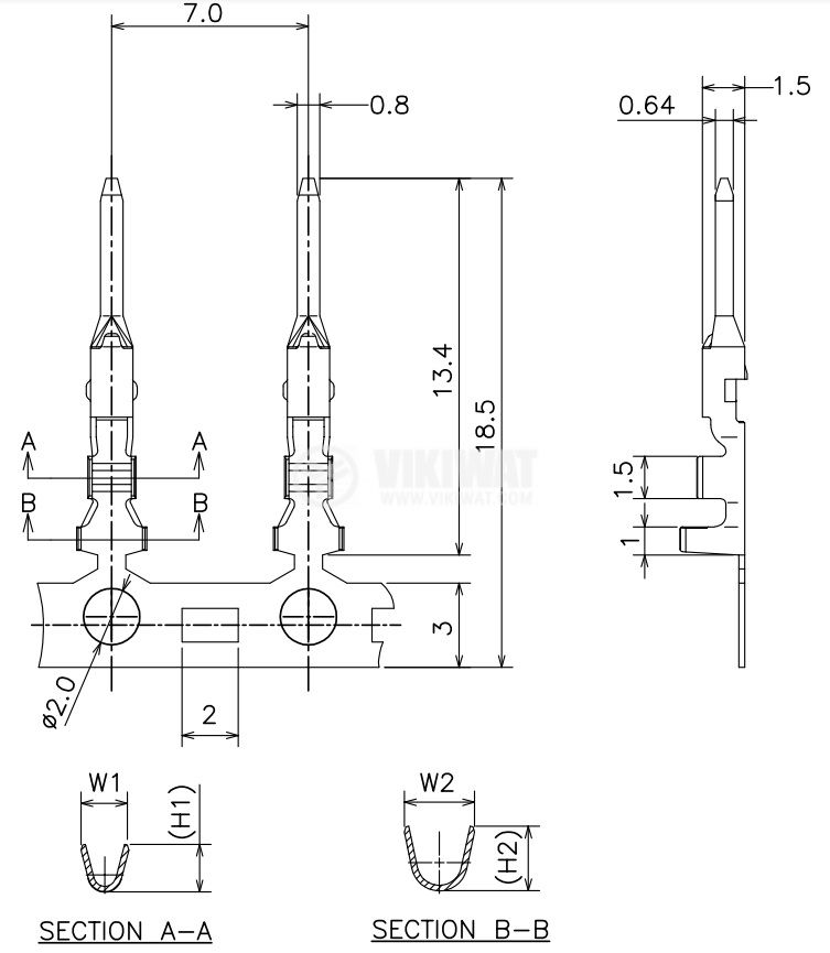 Контактен накрайник, 0.08~0.34mm2, мъжки, 560, 565 - 2