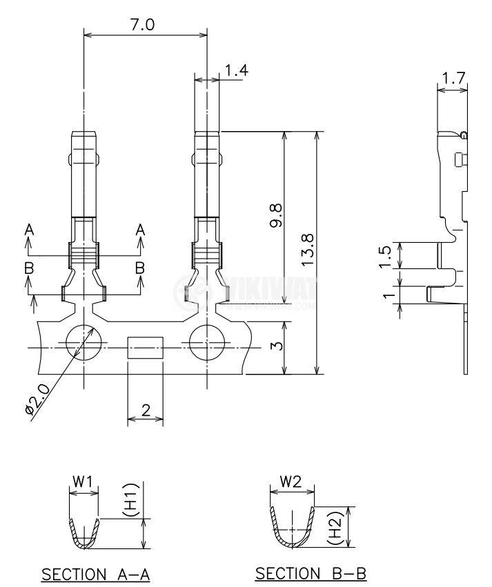 Контактен накрайник, 0.34~0.08mm2, женски, щифтов - 3