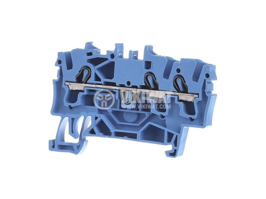 Редова клема, едноредова, 2002-1204, 24A, 800V, 2.5mm2, синя