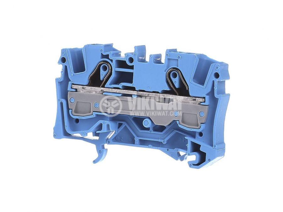 Редова клема, едноредова, 2006-1204, 41A, 800V, 6mm2, синя