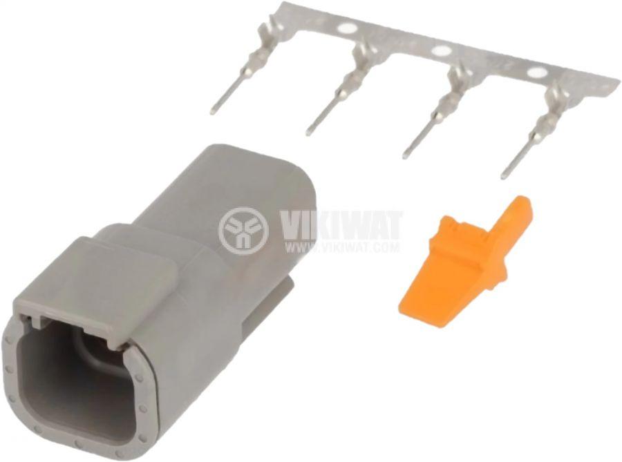 Конектор DEUTSCH S-DTM 04-4 P, 4 пина, 7.5A, мъжки