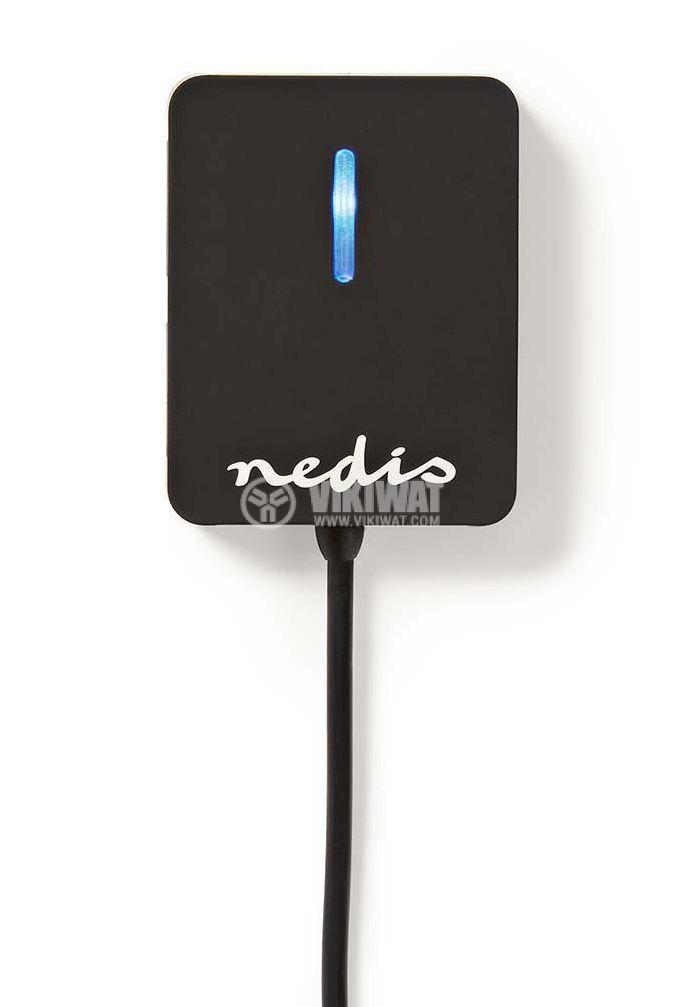 USB хъб 4 порта, UHUBU2410BK, черен, USB2.0 - 1
