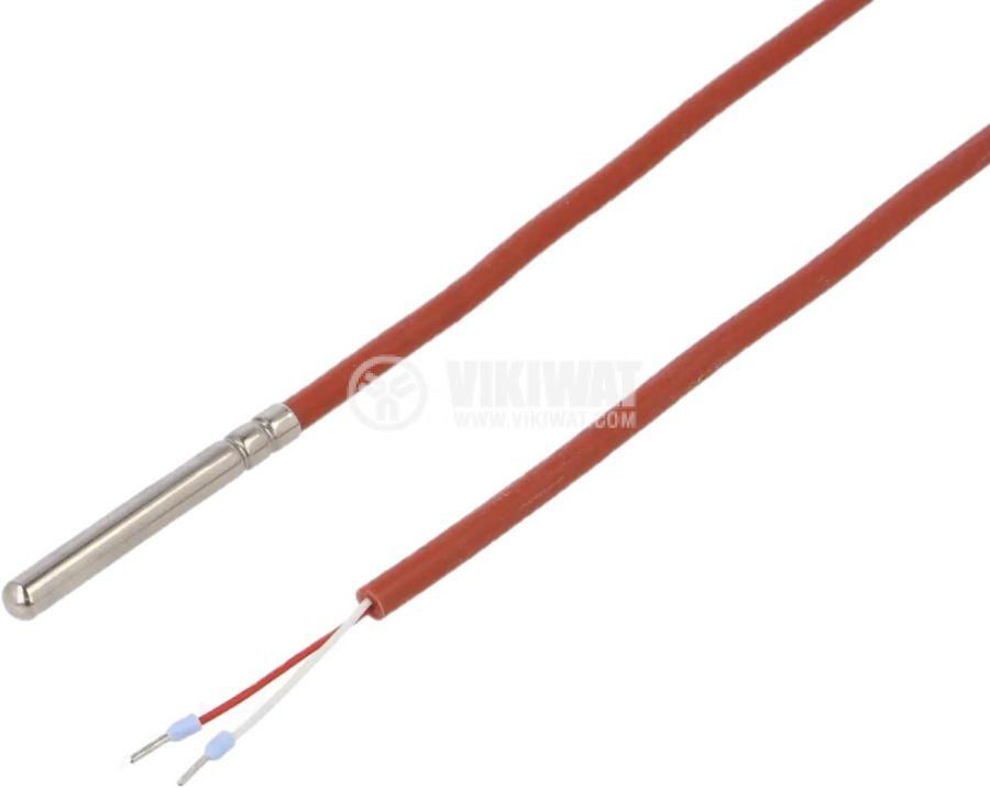 Терморезистор тип Pt1000, TT4M-PT1000B-T200-1500, -40°C до 200°C, ф6x50mm