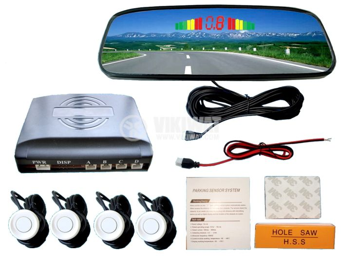 Parking sensor 4 sensors LED display HS1-4 - 2