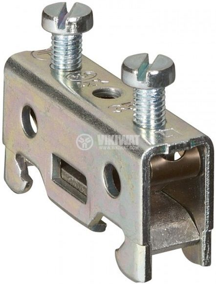 Kраен стопер LEGRAND 37176 за редова клема, 15mm, сив