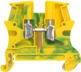 Terminal block, single row, 37173, 57A, 800V, 10mm2, yellow-green, grounding