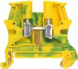 Редова клема, едноредова, 37171, 32A, 800V, 4mm2, жълто-зелена, заземителна