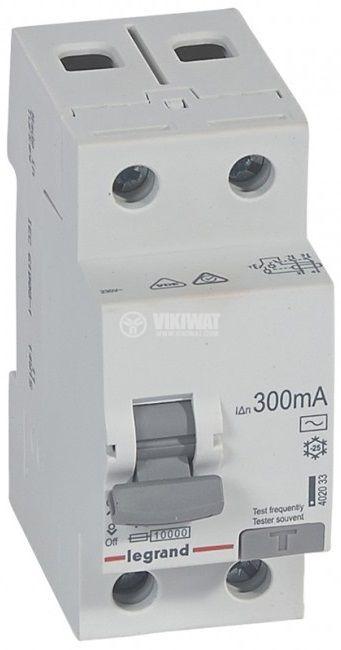 Current circuit breaker, 2P, 40A, 300mA, RX3 LEGRAND 402033