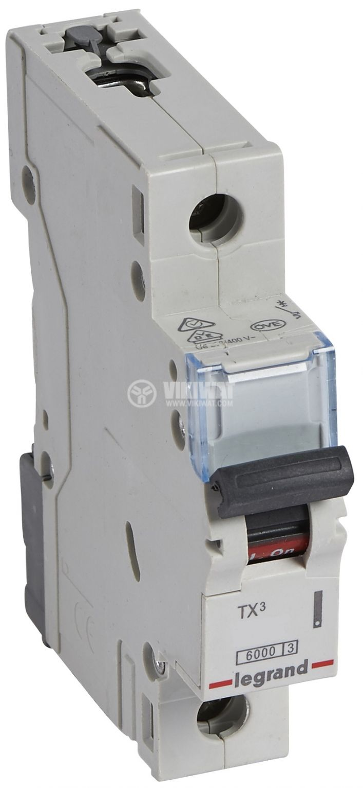 Предпазител автоматичен, еднополюсен, 1A, C крива, 400VAC, DIN шина, 403426, LEGRAND