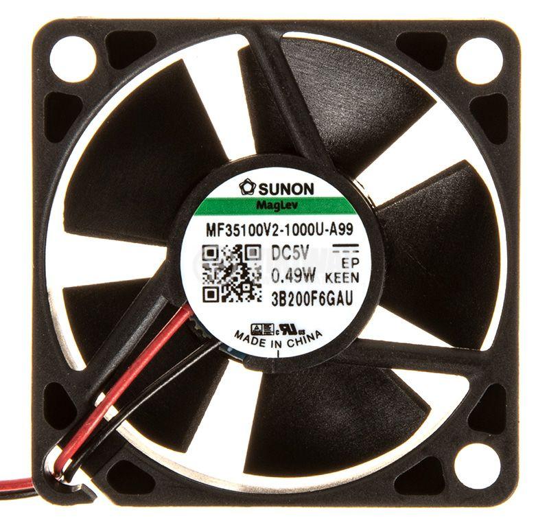Вентилатор 5VDC, 35x35x10mm, лагер Vapo, 10.99m³/h, MF35100V2-1000U-A99, безчетков - 1