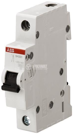Предпазител автоматичен, еднополюсен, 4A, C крива, 230/400VAC, DIN шина, SH201-C4 ABB