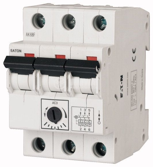 Моторна защита, термо-магнитна, трифазна, Z-MS-10/3, 6.3~10A, EATON
