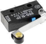 Микропревключвател лост с ролка, SPDT, 250VAC/3A, 19.8x10.2x6.4mm, ON-(ON)
