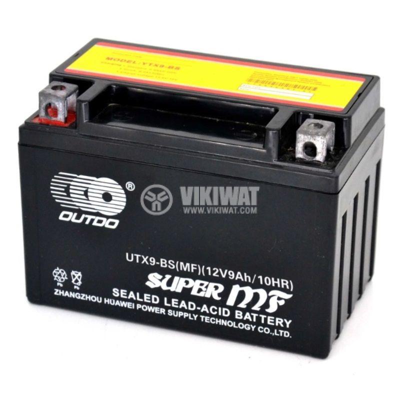 Акумулатор UTX9-BS(MF), 12V, 9Ah, стартов, ляв