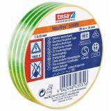 PVC insulating tape, 20m x 19mm, yellow-green, TESA 53988