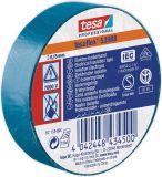PVC insulating tape, 20m x 19mm, blue, TESA 53988