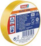 PVC изолационна лента, изолирбанд, 20m x 19mm, жълта, TESA 53988