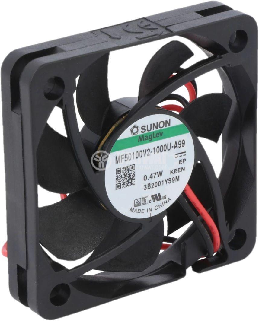 Вентилатор 5VDC, 50x50x10mm, лагер Vapo, 18.7m³/h, MF50100V2-1000U-A99