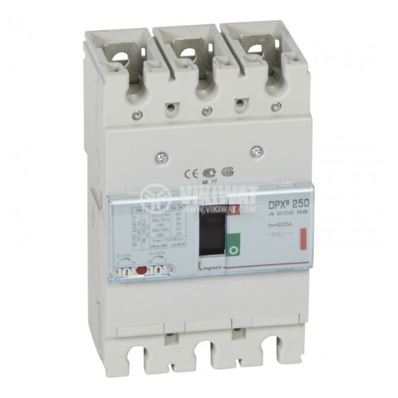 Автоматичен прекъсвач DPX3 250MT, 3P, 200А, 400VAC