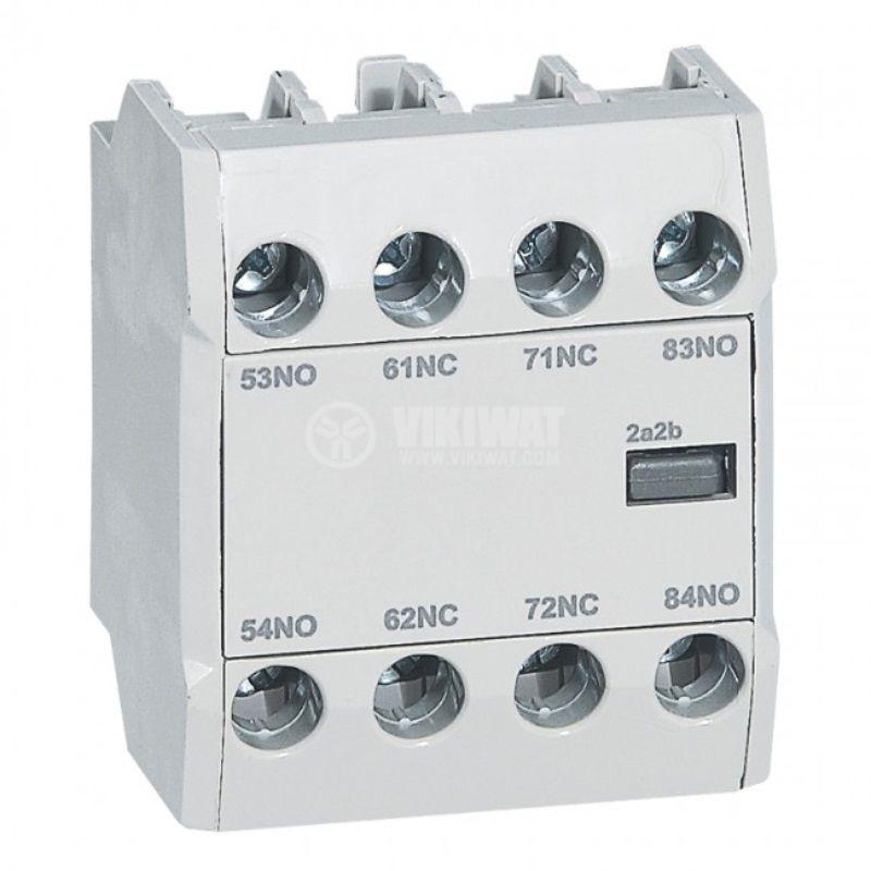 Помощен контакт 416855, 3A/240VAC, DPDT, 2NO/2NC, за CTX3, Legrand
