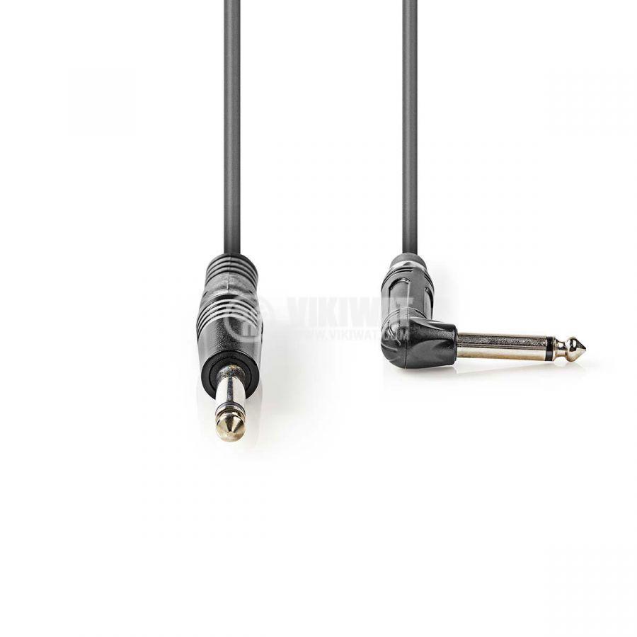 Професионален аудио кабел, 6.3 mono/M към 6.3 mono 90°/M, 1.5m  - 2