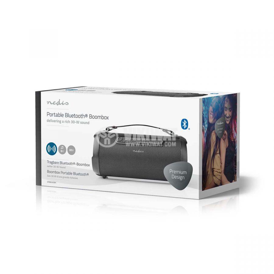Водоустойчива Bluetooth колонка NEDIS, BOOMBOX SPBB305BK, портативна, 30W, 1500mAh - 9