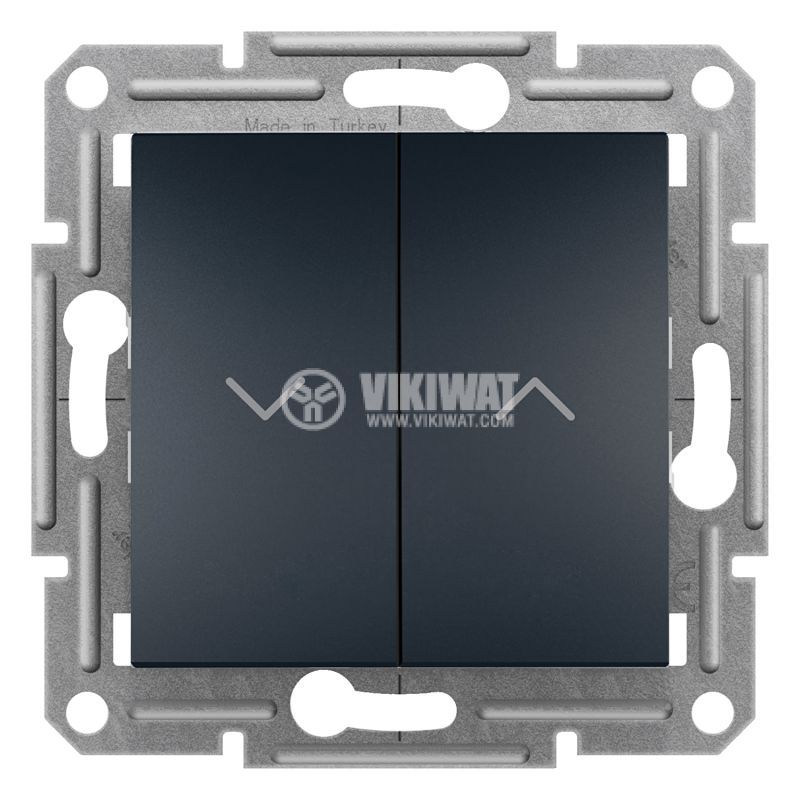Електрически ключ бутон за ролетни щори, 10A, антрацит, EPH1300371