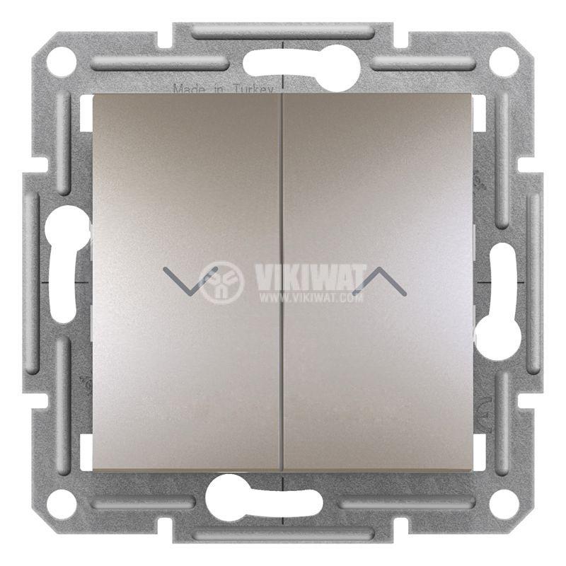 Електрически ключ бутон за ролетни щори, 10A, бронз, EPH1300369